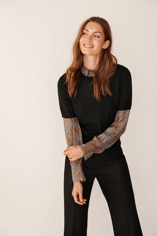 Part Two Everlotte Black Cashmere Sweater
