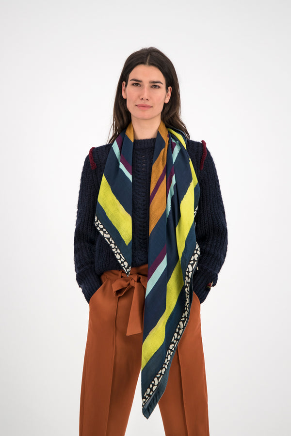 Pom Enchanting Stripes Square Scarf