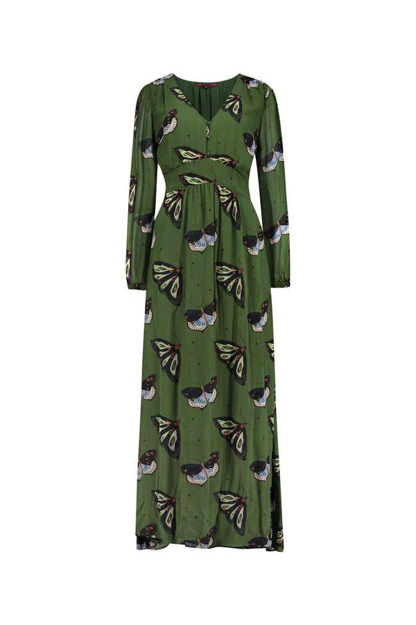 Pom Amsterdam Butterfly Dance Print Maxi Dress