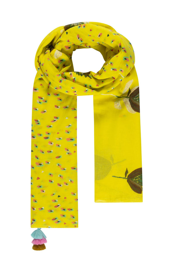 Pom Amsterdam Artichoke Kisses Scarf in Lemon