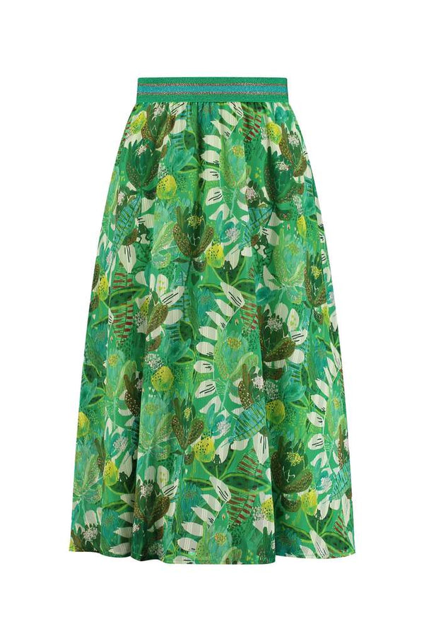 Pom Amsterdam Jungle Beats Skirt in Green