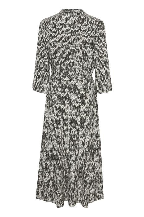 Part Two Erikke Black and White Mini Ikat Shirt Dress