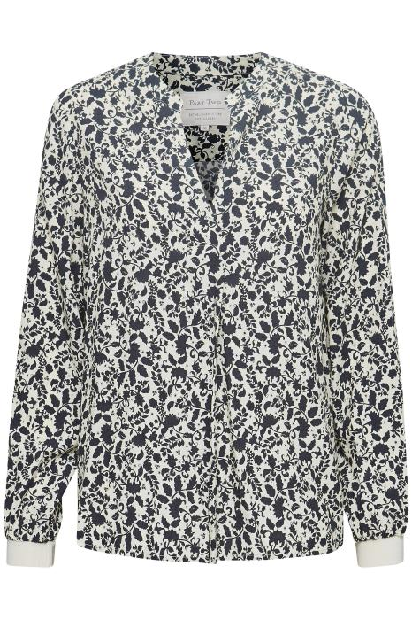 Part Two Tonnie Floral Print Top in Navy