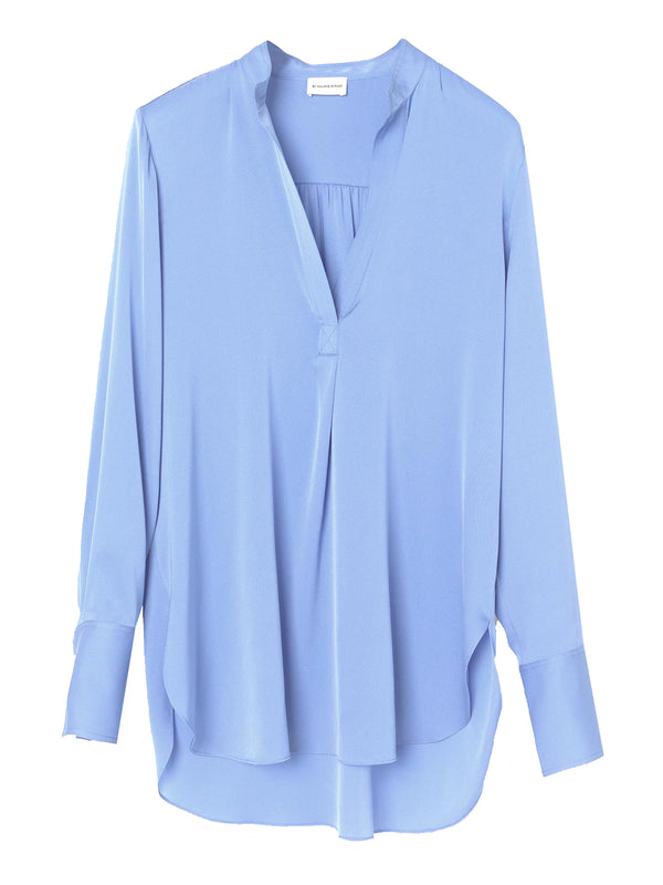 By Malene Birger Mabillon silk blend V-neck shirt