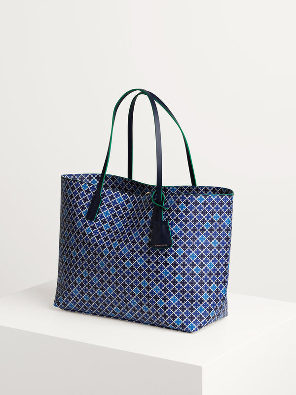 By Malene Birger tote bag patterned with the brand's signature geometric flower print