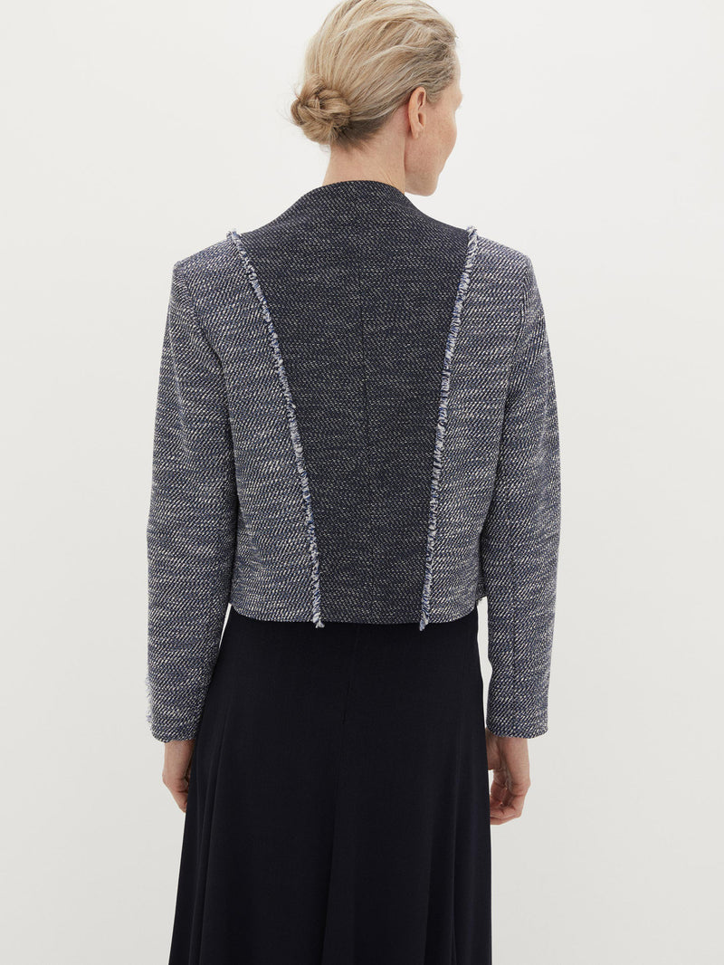 Contrast Fitted Jacket