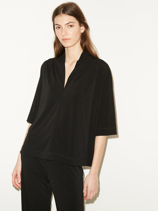 Bijana Jersey V Neck Top By Malene Birger