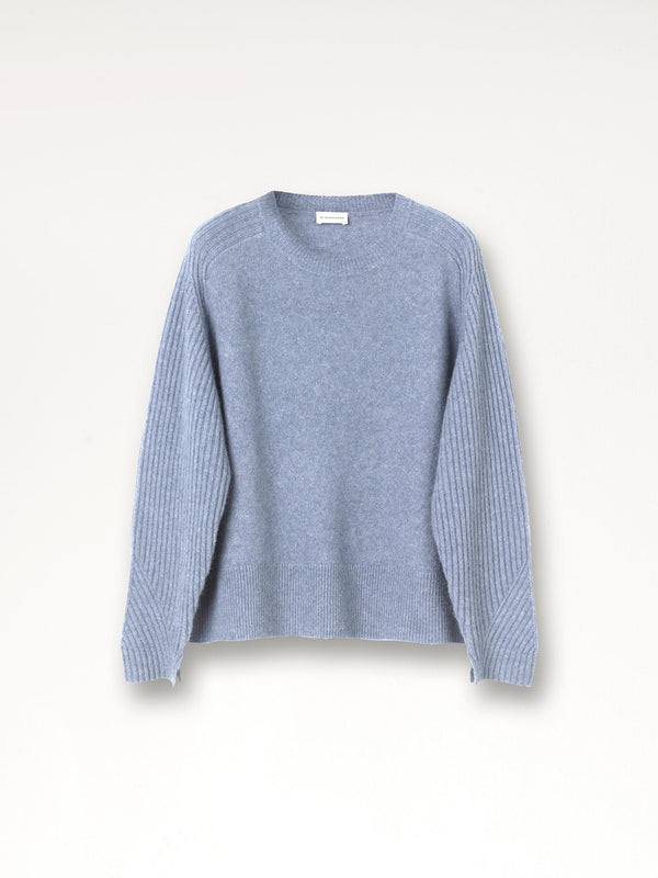 By Malene Birger Ana soft crew neck sweater in alpaca mix wool.
