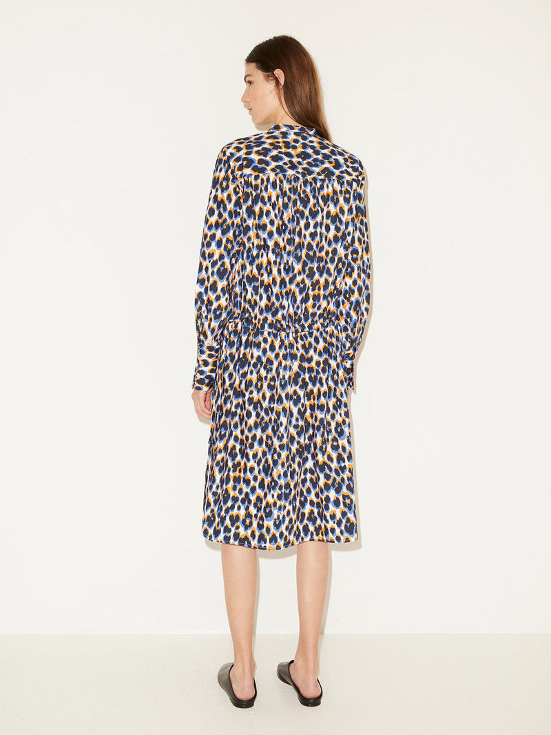 Lamyra Leopard Print Cotton Shirtdress By Malene Birger