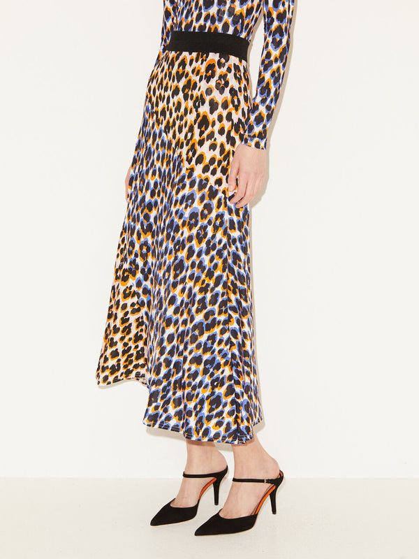 Cypress Leopard Print A Line Skirt By Malene Birger