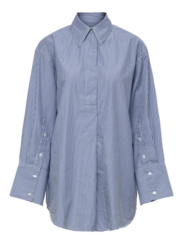 Selected Femme SLFMirabella Striped Shirt in Blue