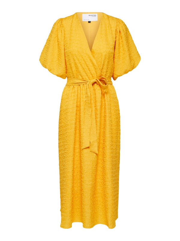 SLFLissy Midi Wrap Dress in Citrus