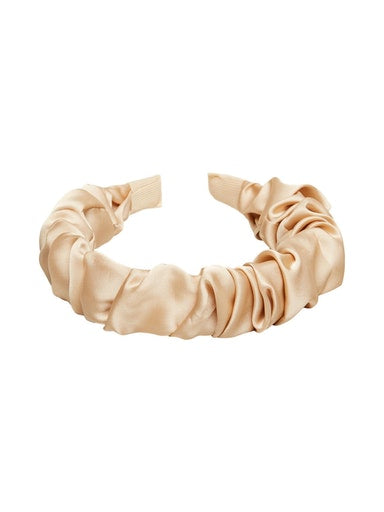 SLFRikke Ruched Hairband in Cream