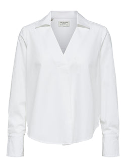 Selected Femme SLFHalli White Cotton Shirt