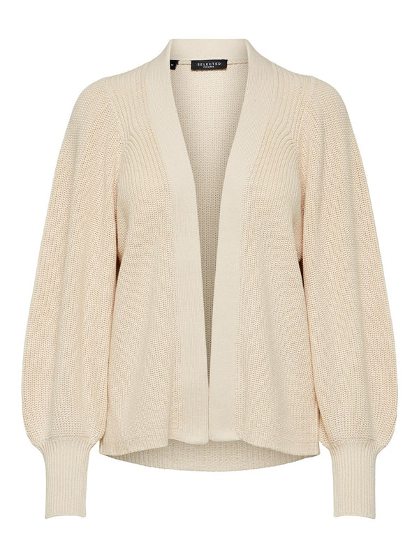 SLFEmmy Ribbed Cardigan in Sandshell