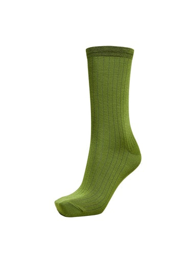 SLFBobby Lime Ribbed Sock