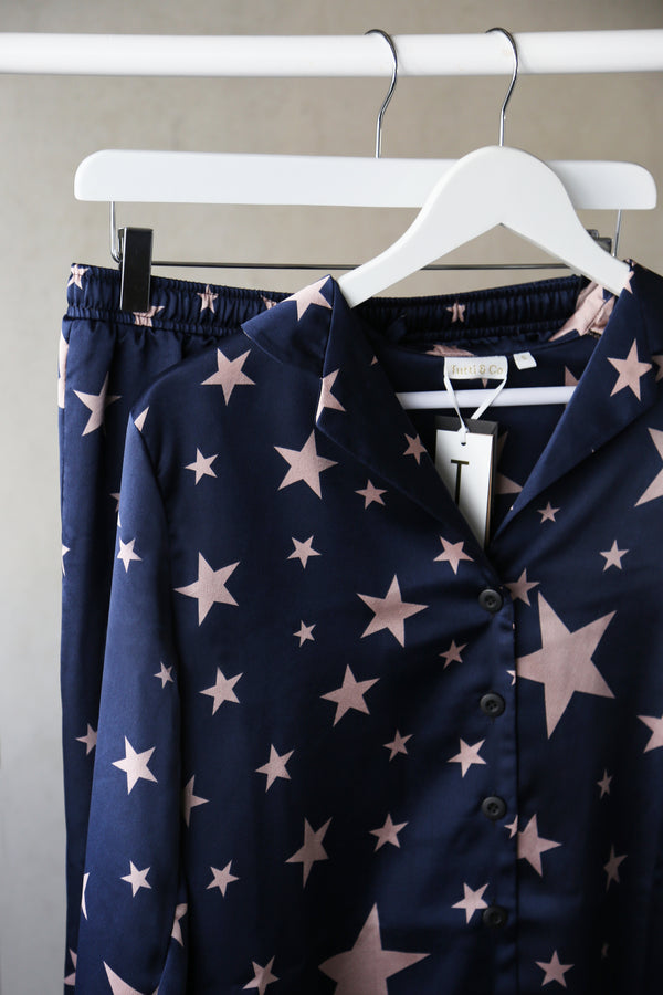 Tutti & Co Starlet Print Pyjamas in Navy