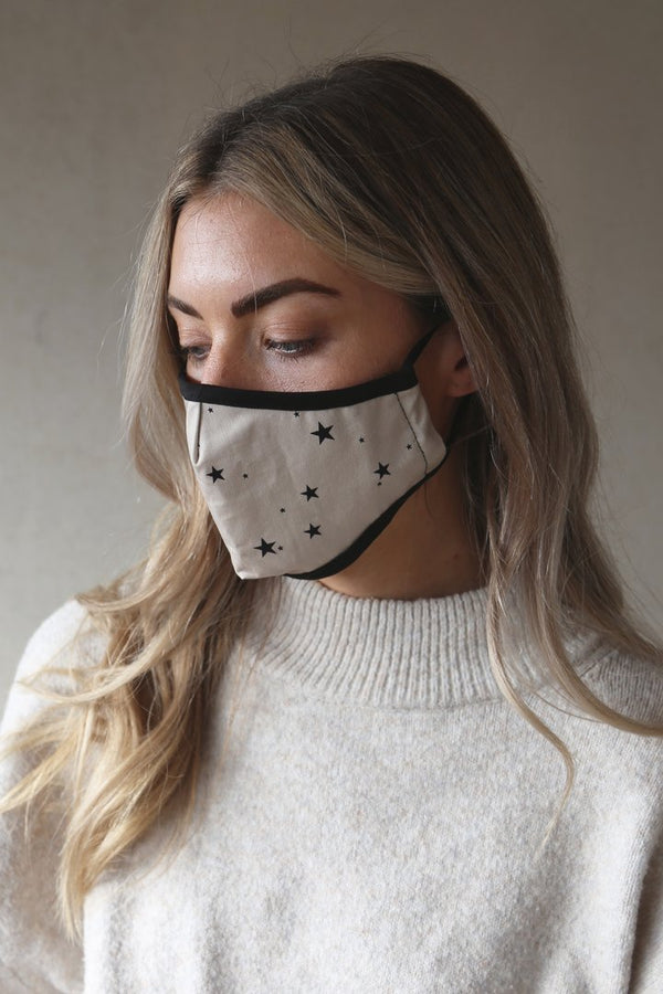 Tutti & Co Organic Cotton Starlight Print Face Mask