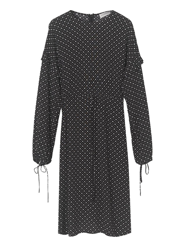 By Malene Birger polka dot tunic dress with long tie sleeves