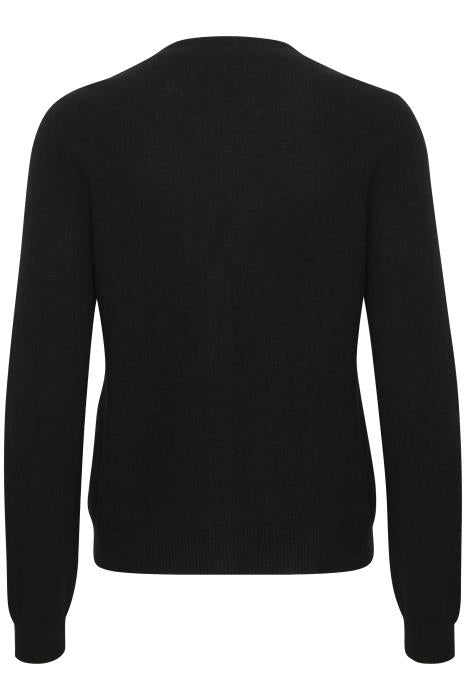 Part Two Esmi V Neck Cashmere Cardigan in Black