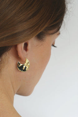 EA929G Gold Ripple earring