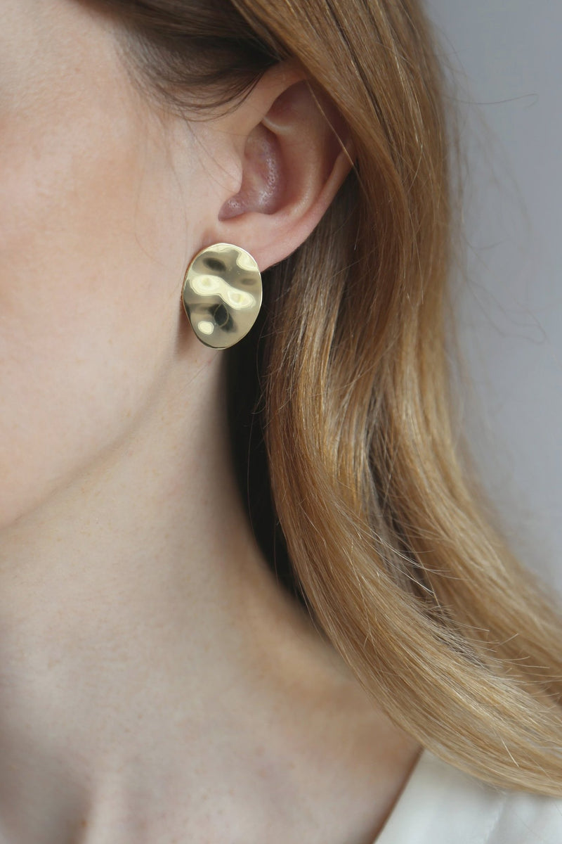 EA297G Gold Water Earring