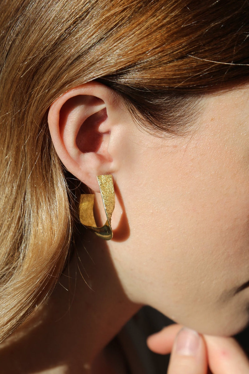 EA297G Gold Tide Drop Earring