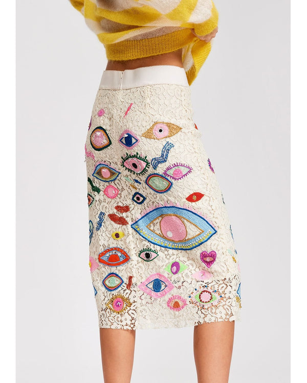 Snappy Embroidered Skirt