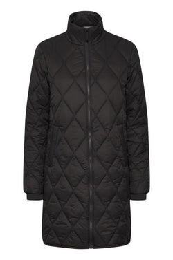 Part Two Olilase Black Padded Coat in Black