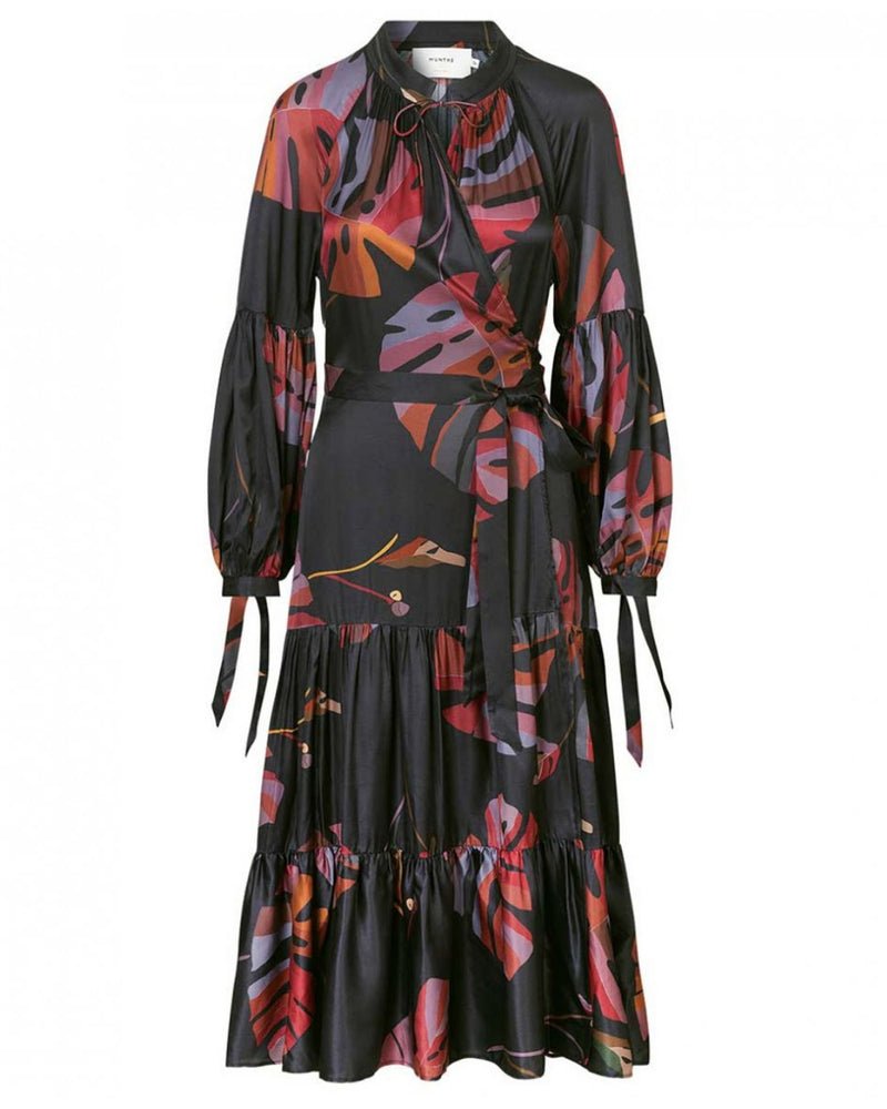 Munthe Hooligan Leaf Print Dress