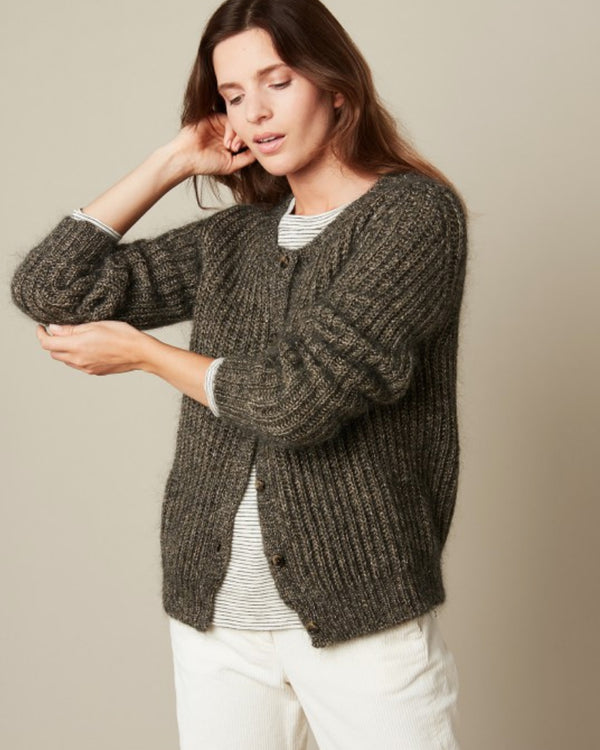 Hartford Medium Metallic Knit Cardigan