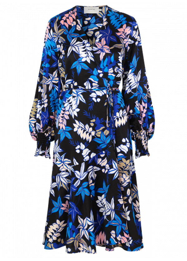 Munthe Jamie floral print wrap dress