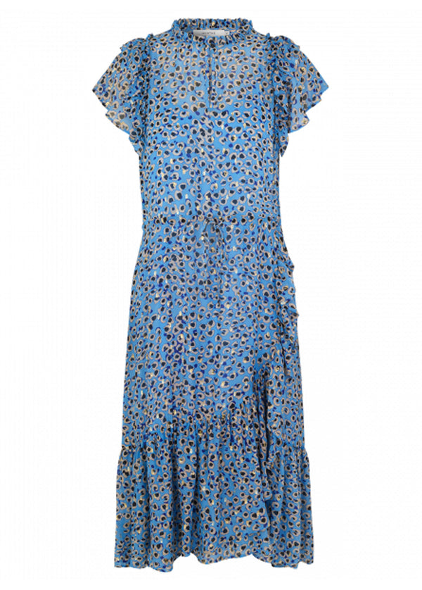 Jess Mini Leo Print Midi Dress