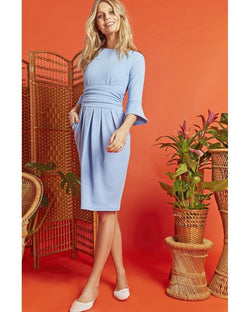 Onjenu Tammy Textured Blue Dress