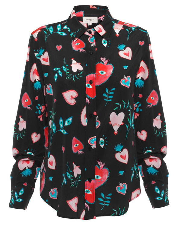 Gail Heart Print Shirt
