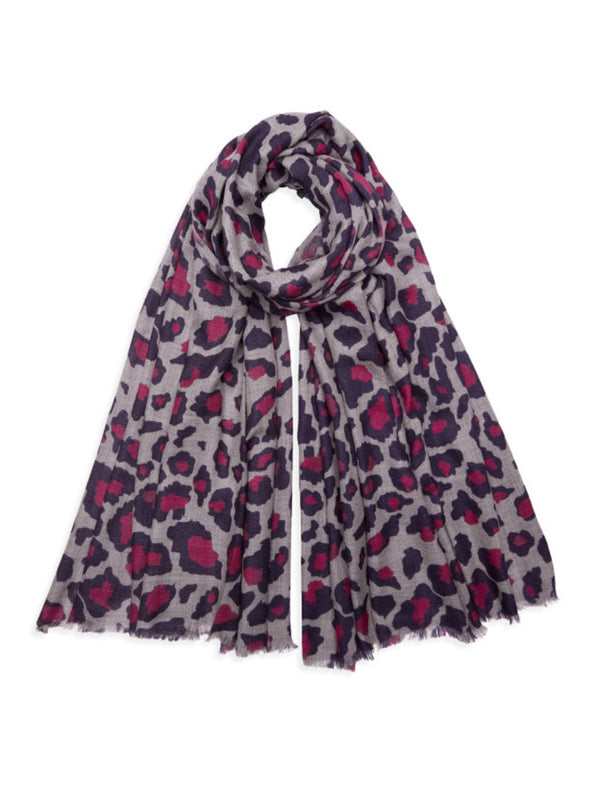 Printed leopard print pashmina scarf by Somerville