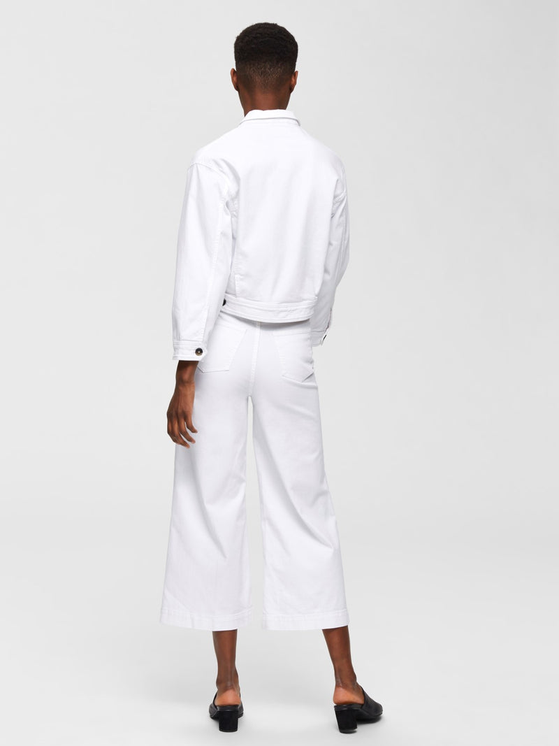 SLFCarry Cropped White Jean