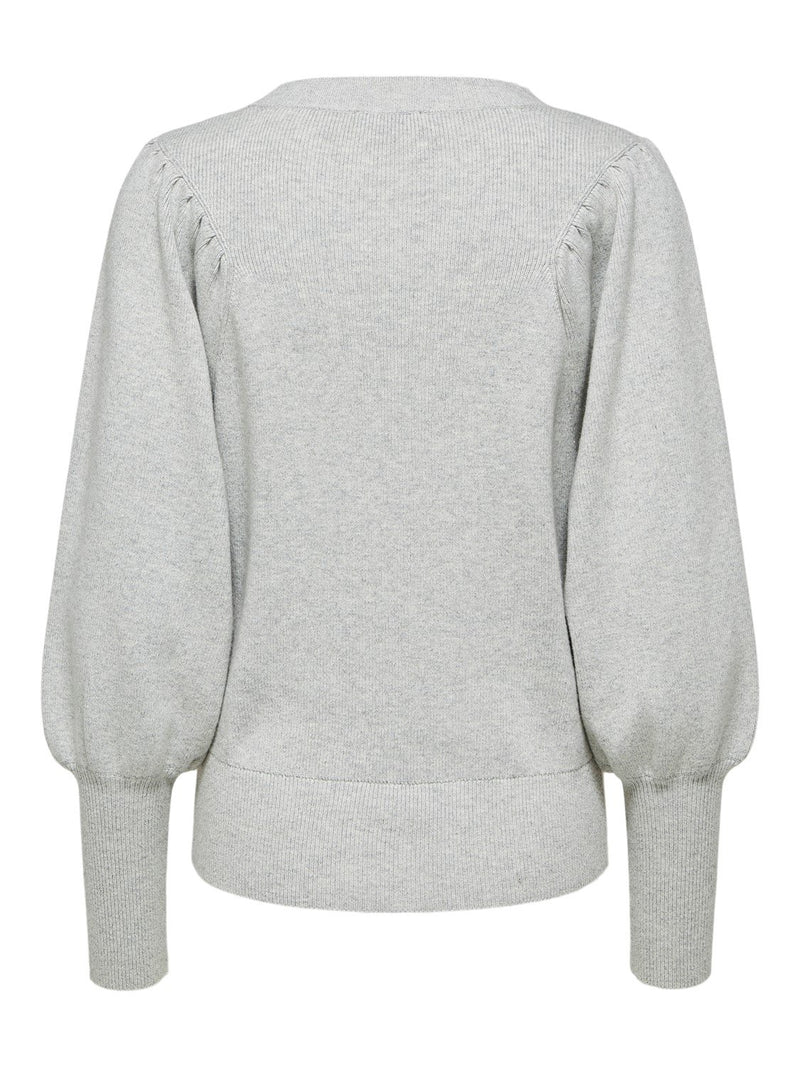 SLFTine Grey Round Neck Sweater