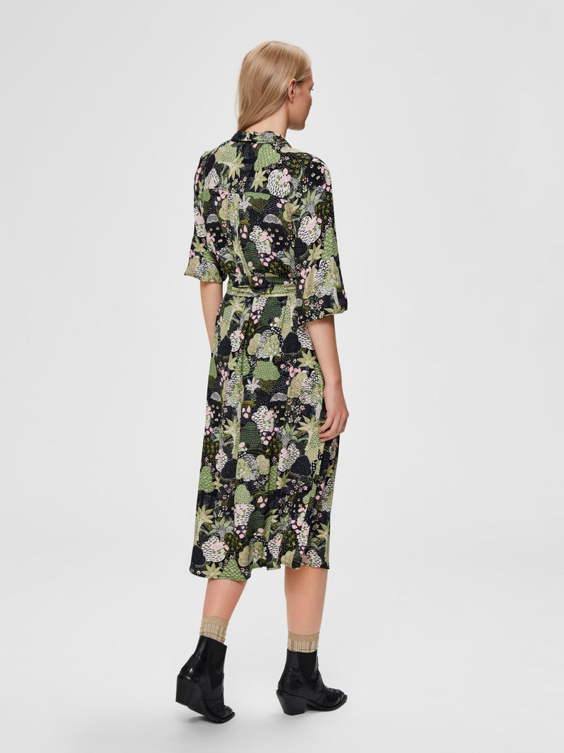 SLFMarina Floral Print Wrap Dress by Selected Femme