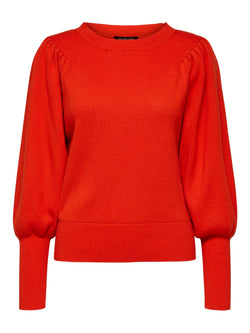 SLFTine Orange Round Neck Sweater