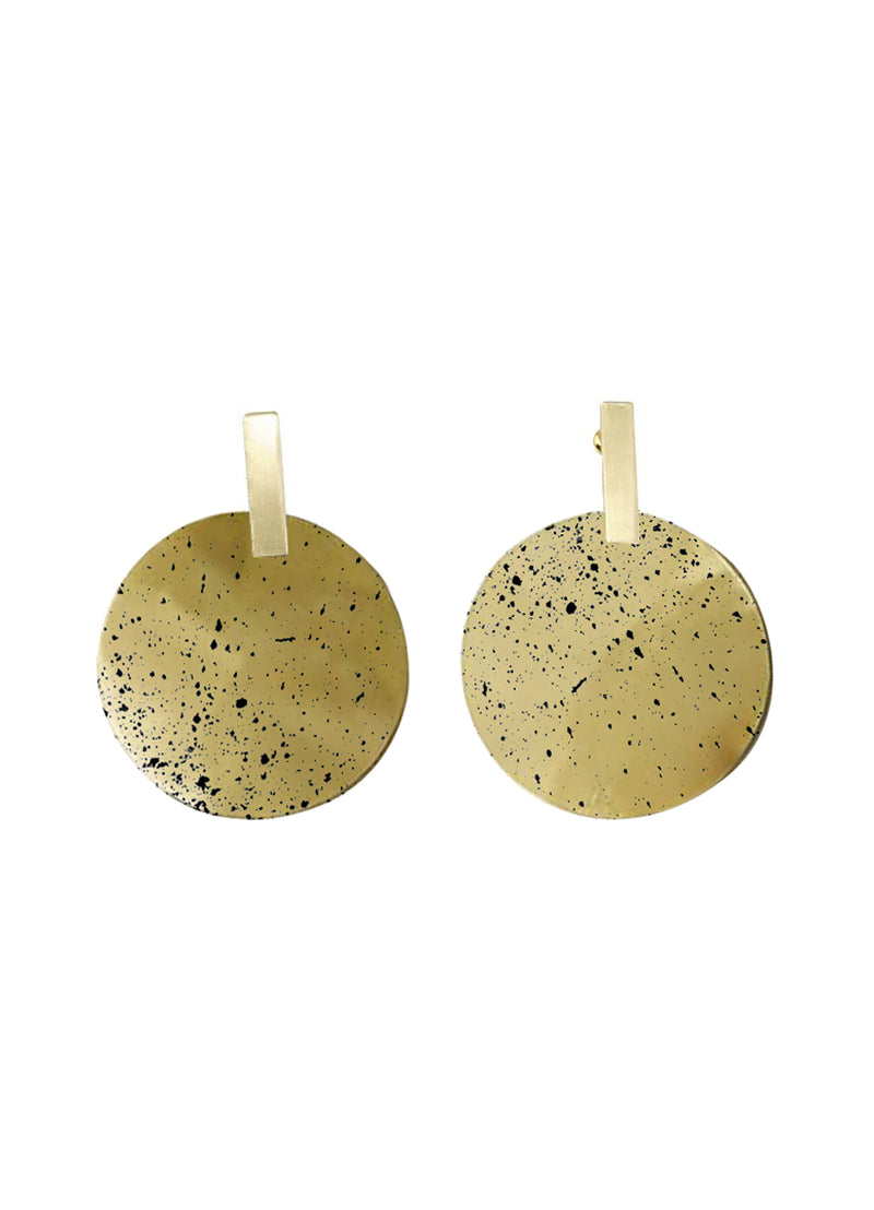 Sibilia Black Monocycle Earring