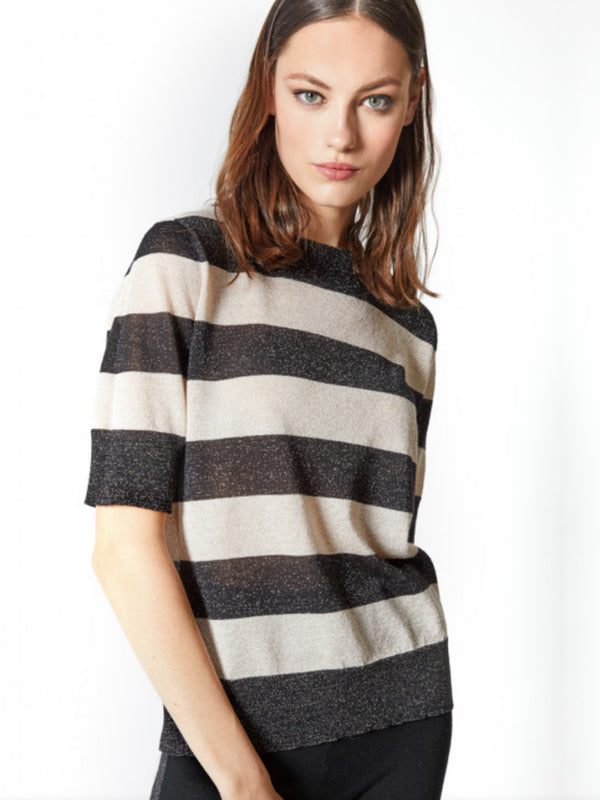 Jeff Fidji Striped Sweater