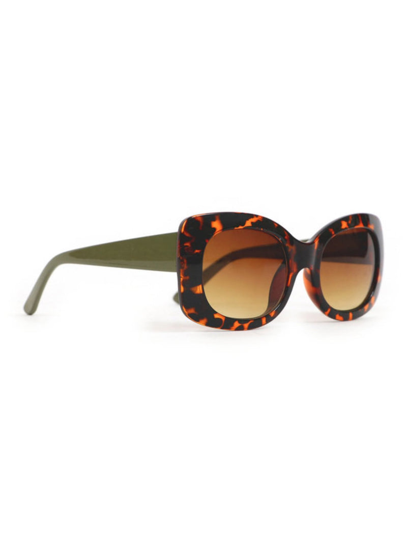 Powder Juliana sunglasses with large rectangular lenses with curved corners