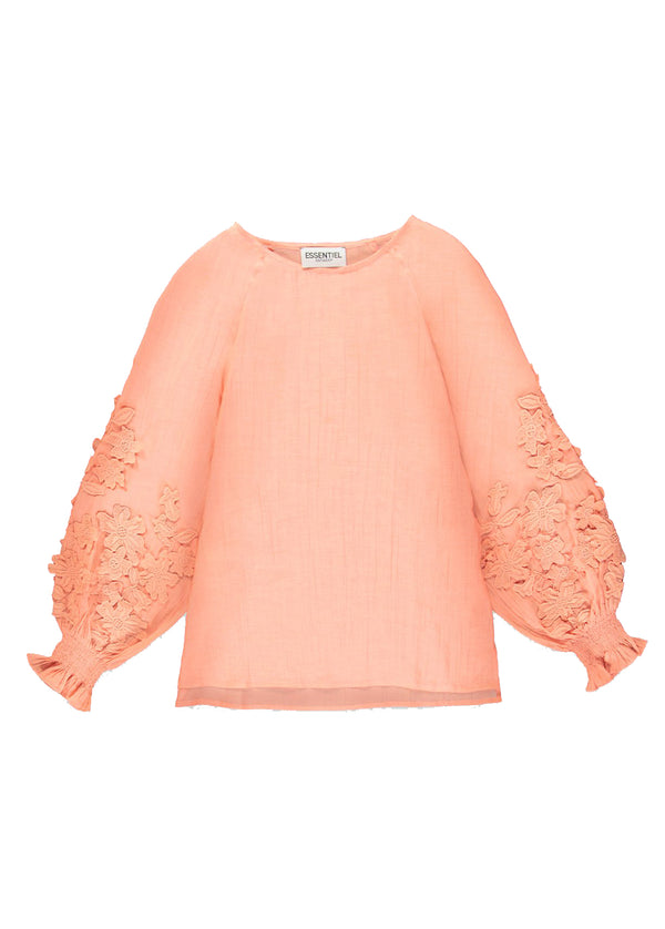 Essentiel Antwerp Tat Lace Trim Blouse