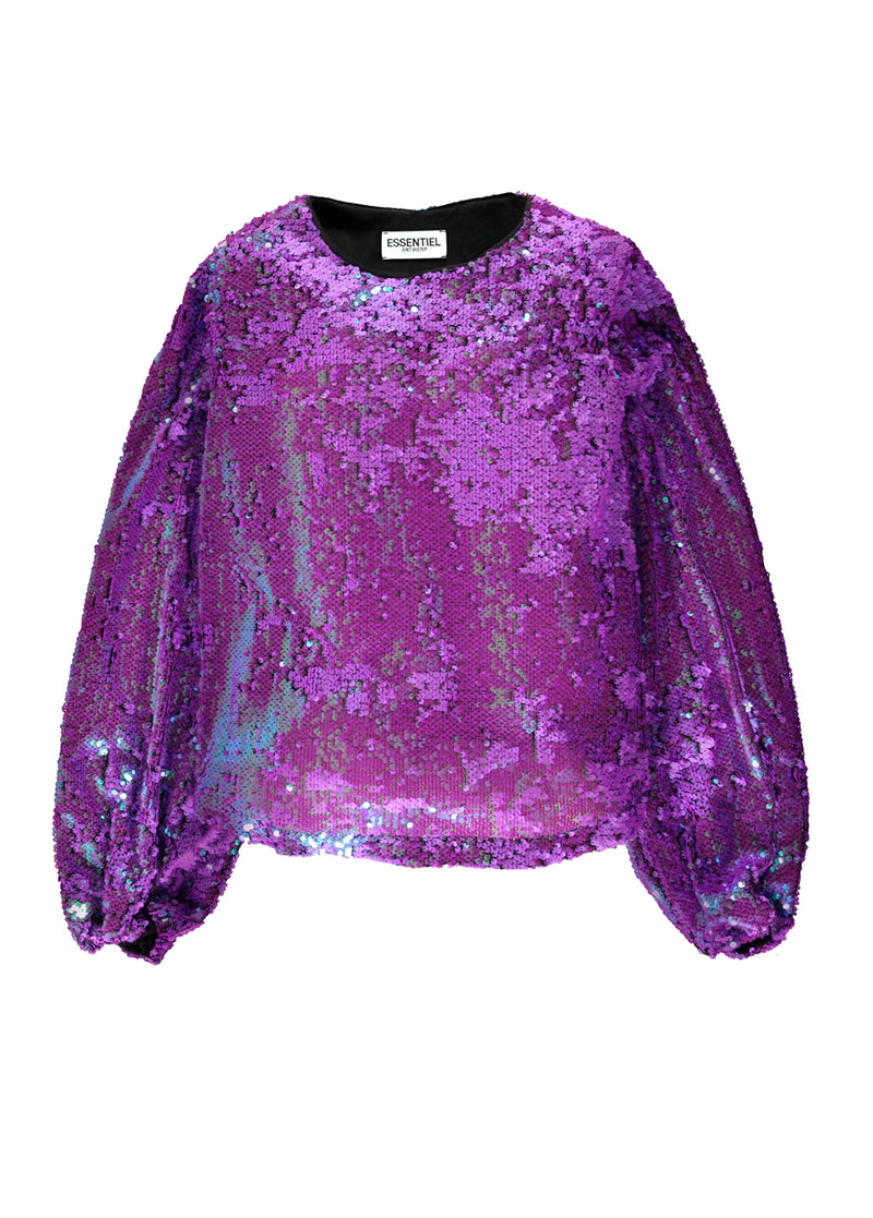 Essentiel Antwerp Thirteen3 sequined long sleeved top