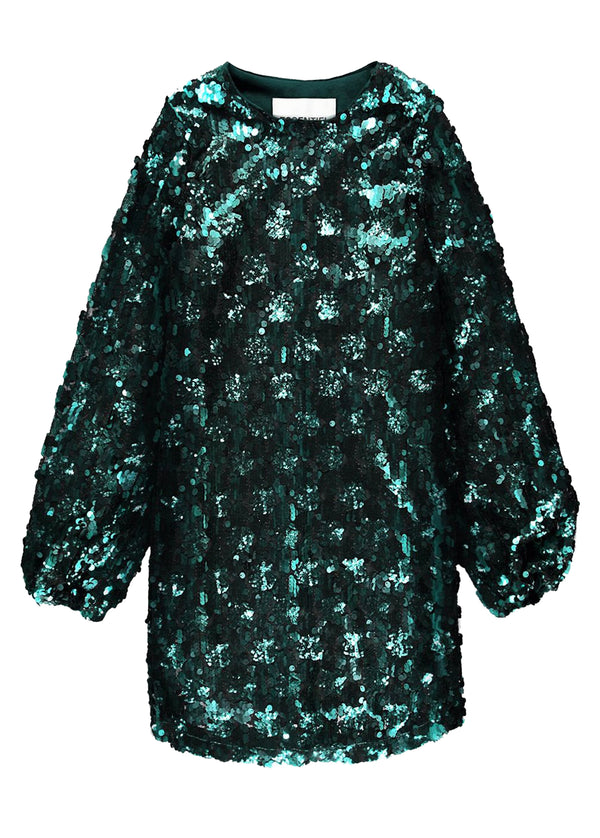 Essentiel Antwerp sequin mini dress with long sleeves