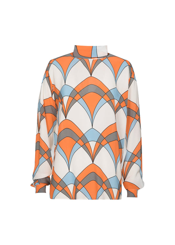Essentiel Antwerp Ties Print Top