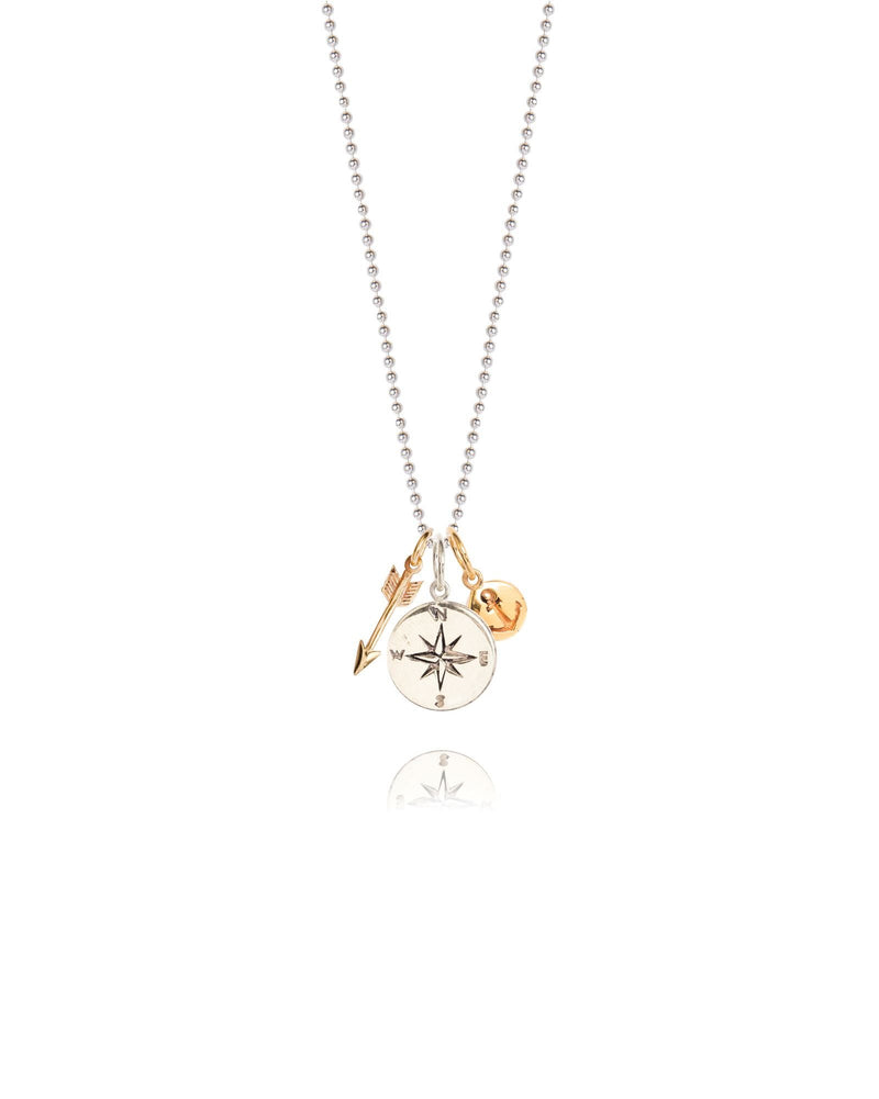 Compass & Arrow Pendant