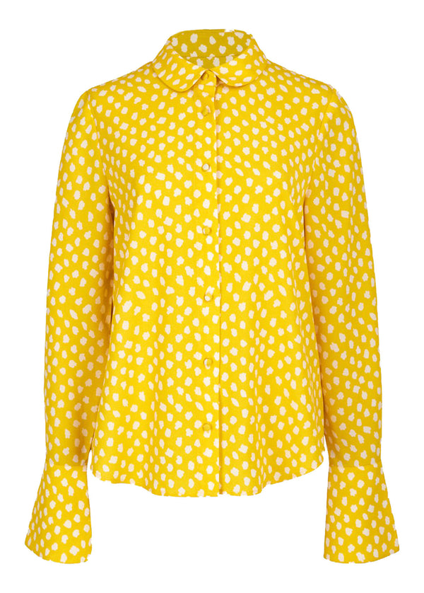 Essentiel Antwerp Van polka dot shirt with trumpet cuffs