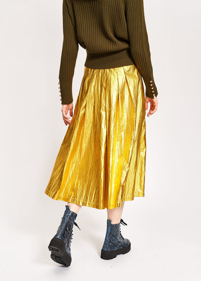 Essentiel Antwerp Vayacondios pleated midi skirt